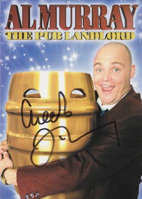 Al-Murray-autograph-the-pub-landlord-memorabilia-signed-comedian-stand-up-comedy-TV-show-signature-postcard