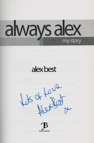 Alex-Best-autograph-signed-TV-memorabilia-George-Best-wife-married-autobiography-Always-Alex-my-story-Im-a-celebrity-get-me-out-of-here-model-modelling-first-edition