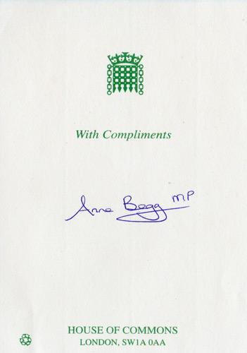 Anne-Begg-autograph-signed-political-memorabilia-labour-party-uk-politics-house-of-commons-aberdeen-south-dame-mp-minister-of-parliament