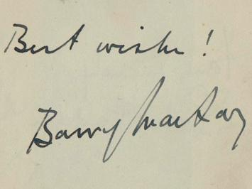 Barry-Mackay-autograph-Barry-Mackay-memorabilia-signed-theatre-memorabilia-Jessie-Matthews-Evergreen-Gangway-Sailing-Along-celebrity-autograph-book-page