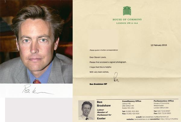 Ben-Bradshaw-autograph-signed-political-memorabilia-labour-party-uk-politics-house-of-commons-exeter-mp-minister-of-parliament