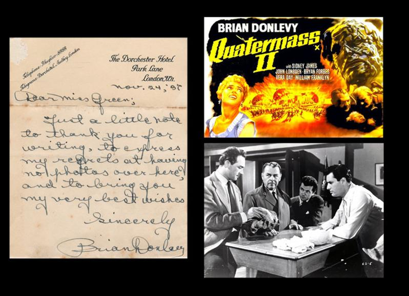 Brian-Donlevy-autograph-signed-Hammer-House-of-Horror-film-memorabilia-prof-bernard-quatermass-2-xperiment-Enemy-From-Space-beau-geste-signature