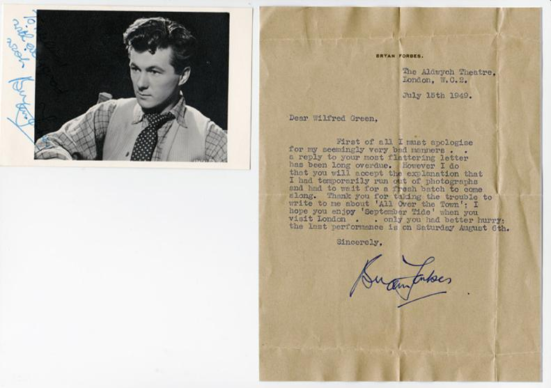 Bryan-Forbes-autograph-Bryan-Forbes-memorabilia-movie-film-memorabilia-photo-letter-cinema-Chaplin-Stepford-Wives-Whistle-Down-The-Wind