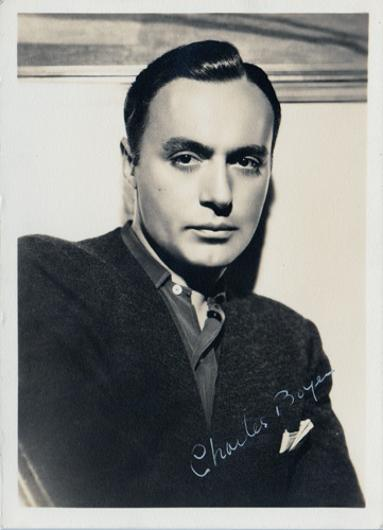 Charles-Boyer-Hollywood-movie-film-legend-autograph-signed-photo-memorabilia-fanny