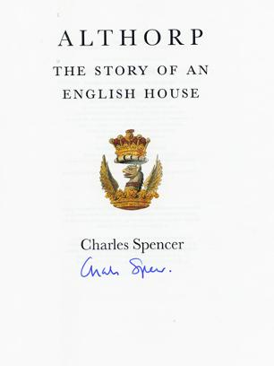 Charles-Spencer-autograph-signed-Althorp-memorabilia-Viscount-Earl-Diana-Princess-of-Wales-brother-stately-home-memoirs-english-house-book-signature