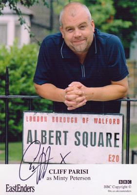 Cliff-Parisi-autograph-signed-Eastenders-memorabilia-bbc-tv-soap-television-minty-peterson-albert-square-signature-fred-buckle-cal-the-midwife-actor