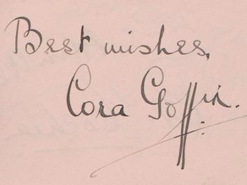 Cora-Goffin-autograph-Cora-Goffin-memorabilia-signed-movie-memorabilia-Pantomime-legend-Little-Lord-Fauntleroy-film-celebrity-autograph-book-page