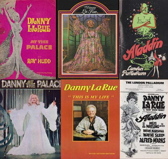 Danny-La-Rue-autograph-signed-theatre-memorabilia-programmes-aladdin-widow-twanky-at-the-palace-this-is-my-life-hello-dolly-drag-queen-artist