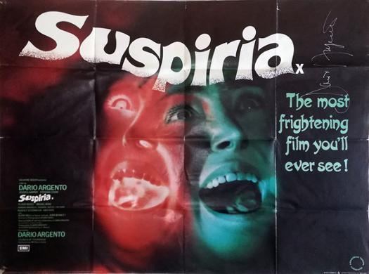 Dario-Argento-autograph-signed-suspiria-movie-poster-italian-film-director-1977-horror-supernatural-giallo-Bird-with-the-Crystal-Plumage-zombie-dawn-of-the-dead-signature