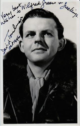 David Tomlinson Hollywood movie film legend autograph signed memorabilia Mary Poppins Bedknobs and Broomsticks The Love Bug Wooden Horse Three Men in a Boat George Banks