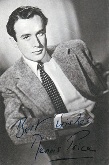 Dennis-Price-autograph-signed-film-theatre-movie-memorabilia-Kind-Hearts-Coronets-Louis-Mazzini-Blithe-Spirit-Jeeves-Wooster-This-Happy-Breed-Present-Laughter-Navy-Lark