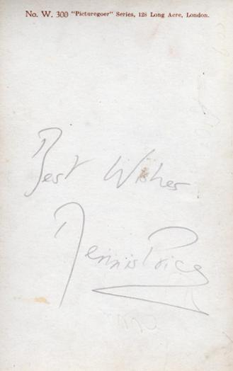 Dennis-Price-autograph-signed-film-theatre-movie-memorabilia-Kind-Hearts-and-Coronets-Louis-Mazzini-Jeeves-Wooster-Blithe-Spirit-This-Happy-Breed-Present-Laughter-Navy-Lark