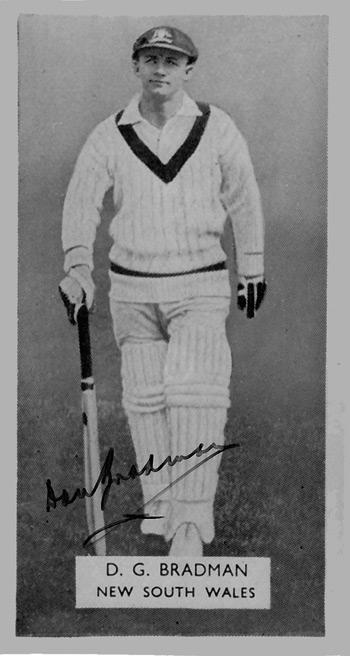 Don-Bradman-signed-Australian cricket photo-ashes memorabilia