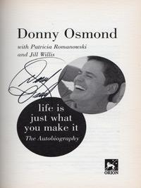 Donny-Osmond-signed-autobiography-Life-Just-What-Make-autograph