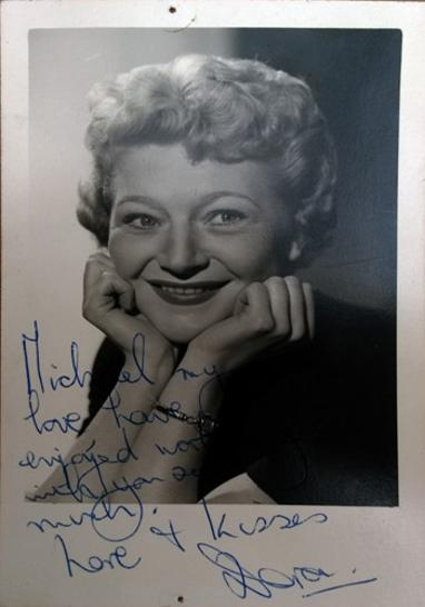 Dora-Bryan-autograph-signed-publicity-photo-1966-Hello-Dolly-Michael-Stewart-signature