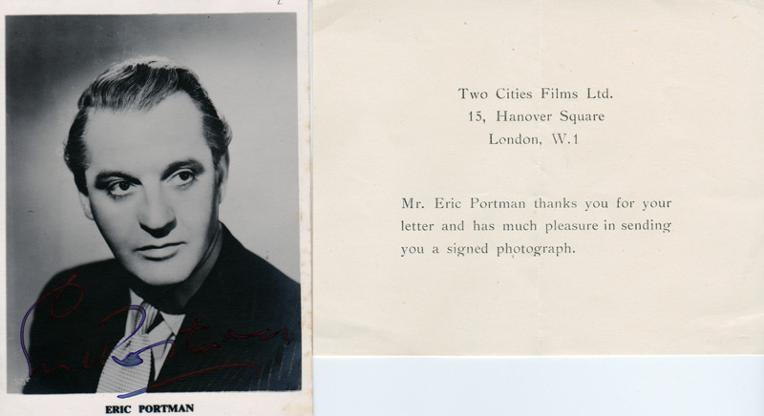 Eric-Portman-movies-film-legend-autograph-signed-photo-cinema-memorabilia-compliment-slip