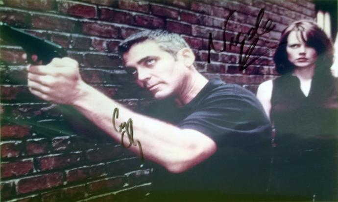 George-Clooney-autograph-signed-The Peacemaker-movie-memorabilia-Nicole-Kidman-autograph-film-cinema-hollywood-legend