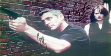 George-Clooney-autograph-signed-The-Peacemaker-movie-memorabilia-Nicole-Kidman-autograph-film-cinema-