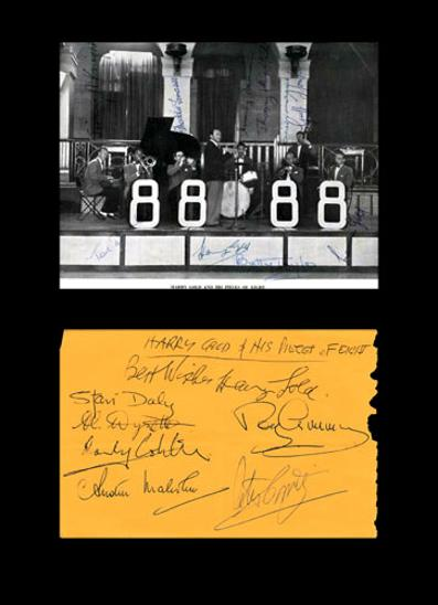 Harry-Gold-autograph-signed-Pieces-of-Eight-big-band-memorabilia-dixieland-bandleader-signatures