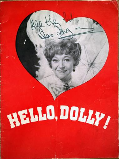 Hello-Dolly-programme-signed-Dora-Bryan-autograph-1966-Theatre-Royal-London-memorabilia