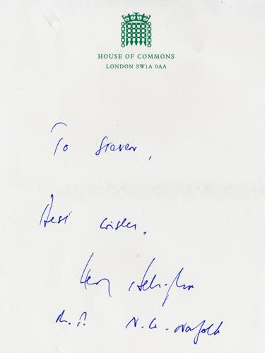 Henry-Bellingham-autograph-signed-political-memorabilia-conservative-party-uk-politics-tory-mp-north-west-norfolk-house-of-commons-minister-of-parliament