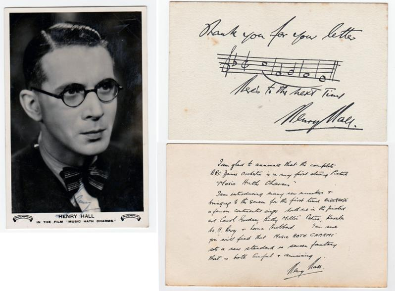 Henry-Hall-signed-music-memorabilia-radio-dance-band-leader-legend-autograph-Here-Comes-the-Bogeyman,-Teddy-Bears-Picnic-BBC-Dance-Orchestra-Guest-Night-bbc-radio-arranger-composer