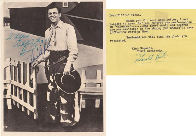 Howard-Keel-Hollywood-movie-film-legend-autograph-signed-memorabilia-Oklahoma-Dallas-signature-photo-letter