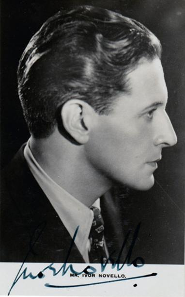 Ivor-Novello-signed-music-memorabilia-singer-actor--legend-autograph-songwriter-composer-Keep-the-Home-Fires-Burning-the-vortex-lodger-Well-Gather-Lilacs-Rose-of-England-Perchance-to-Dream