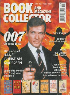 James-Bond-memorabilia-007-colectables-antiques-vintage-collectors-book-and-magazine-collector-april-2005-roger-moore-gilt-edged-bonds-007th-heaven-sean-connery