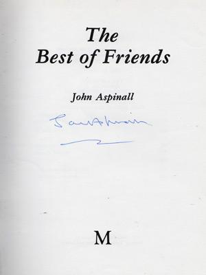 John-Aspinall-autograph-signed-book-memorabilia-first-edition-Best-of-Friends-zoo-Aspinalls-Howletts-Port-Lympne-Clermont-Club-Aspers-gorillas-gambling-lucan-signature