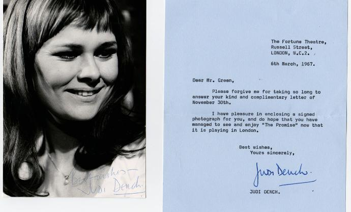 Judi-Dench-Hollywood-movie-film-legend-autograph-signed-photo-letter-memorabilia-celebrity-signature-007-James-Bond