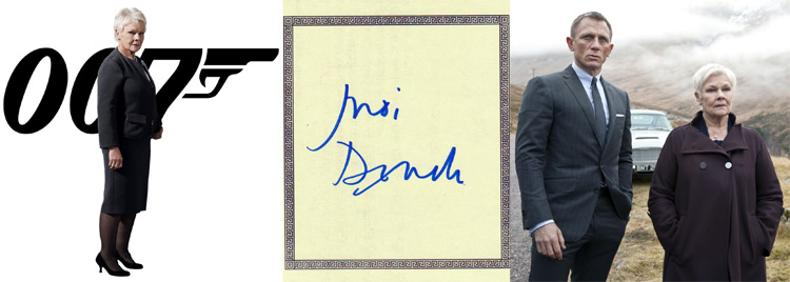 Judi-Dench-memorabilia-Dame-Judi-Dench-autograph-signed-James-Bond-memorabilia-007-movie-memorabilia-Casino-Royale-Quantum-of-Solace-Skyfall-M-MI5-Goldeneye