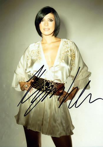 Kym-Marsh-signed-photo-standing tall-coronation-street-st-corrie-michelle-connor-HearSay-tv-television-memorabilia-