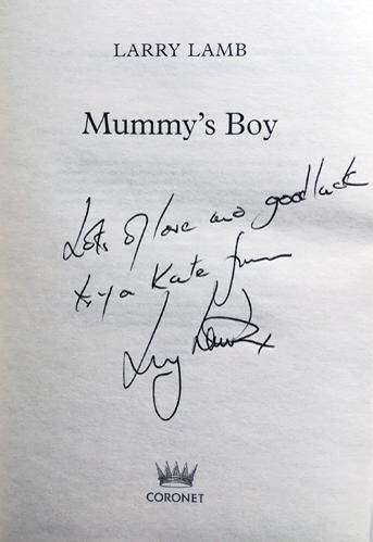 Larry-Lamb-autograph-signed-Eastenders-memorabilia-TV-soap-archie-mitchell-mike-shipman-gavin-and-stacey-new-tricks-autobiography-book-mummys-boy