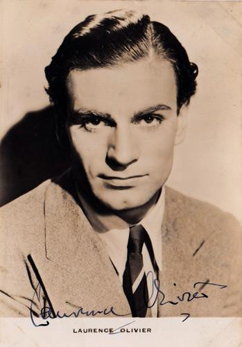 Laurence-Olivier-Hollywood-movie-film-legend-autograph-signed-memorabilia-celebrity-vintage-signature