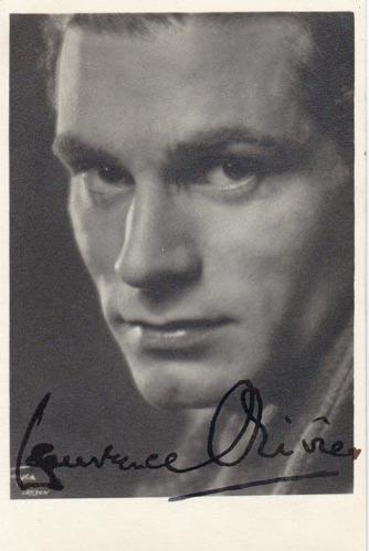 Laurence-Olivier-autograph-signed-film-theatre-memorabilia-sir-lord-baron-Henry-V-old-vic-marathon-man-rebecca-hamlet-wuthering-heights-the-entertainer-actor-signature