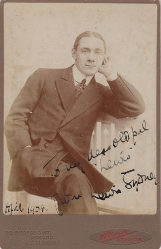 Lewis-Sydney-autograph-signed-silent-movies-memorabilia-1916-short-film-Schmidt-the-Spy-German-first-world-war-cartoon-Alfred-Leete-actor-the-follies-signature