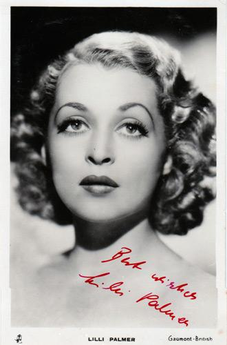 LILLI-PALMER-Hollywood-movies-film-legend-autograph-signed-photo-memorabilia-The-Kid-Uncle-Fester