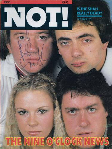Mel-Smith-signed-Not-the-Nine-Oclock-news-annual-book-1980-autograph-rhys-jones-atkinson-stephenson-alas