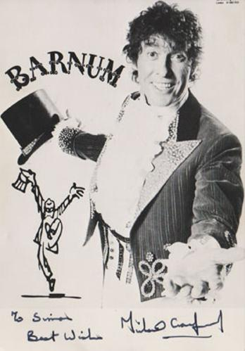 Michael-Crawford-autograph-signed-Barnum-theatre-memorabilia-PT-Greatest-Showman-Some-Mothers-Do-Ave-Em