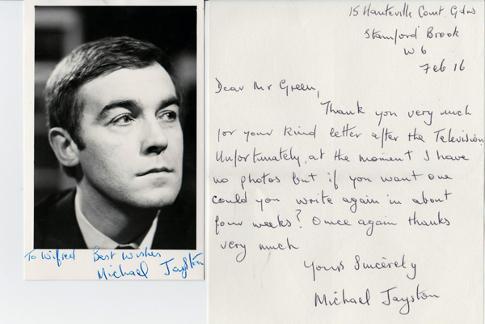 Michael-Jayston-autograph-signed-movie-tv-memorabilia-doctor-dr-who-the-valeyard-the-ultimate-foe-Tinker-Tailor-Soldier-Spy-emmerdale-a-bit-of-a-do-signature