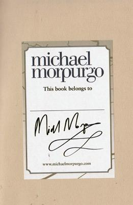 Michael-Morpurgo-autograph-signed-book-shadow-2010-war-horse-childrens-Laureate-harper-collins-fiction-sir-novel-writer-author-dog-afghanistan