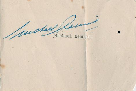 Michael-Rennie-Hollywood-movies-film-legend-autograph-signed-photo-postcard-cinema-memorabilia-Day-Earth-Stood-Still-compliments-slip
