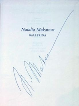 NATALIA-MAKAROVA-signed-biography-Prima-Ballerina-Richard-Austin-1st-Edition-1978-autograph-Dance-Books