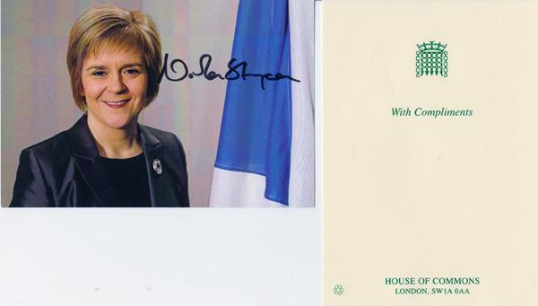 Nicola-Sturgeon-autograph-signed-political-memorabilia-scottish-nationalist-party-first-minister-scotland-politics-snp