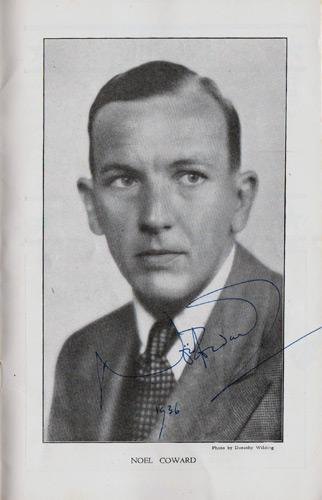 Noel-Coward-autograph-Noel-Coward-memorabilia-signed-west-end-phoenix-theatre-memorabilia-Tonight-at-8-30-Gertrude-Lawrence-Red-Peppers-Shadow-Play-Fumed-Oak-1936