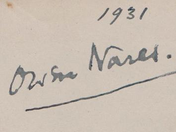 Owen-Nares-autograph-Owen-Nares-memorabilia-signed-silent-film-memorabilia-Matinee-Idol-celebrity-autograph-book-page Romance The First and the Last The Petrified Forrest