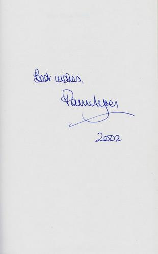Pam-Ayres-autograph-pam-ayres-memorabilia-signed-poetry-book-with-the-hands-collection-poems-poet-Opportunity-Knocks-Countdown-Dictionary-Corner-signature