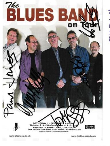 Paul-Jones-autograph-signed-blues-band-music-memorabilia-Gary-Fletcher-Tom-McGuinness-David-Kelly-Rob-Townsend 2005