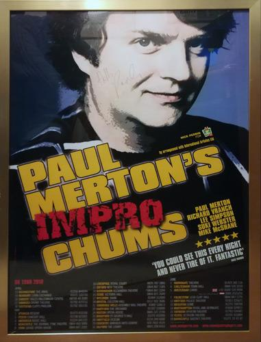 Paul-Merton-autograph-signed-comedy-memorabilia-improv-poster-impro-chums-uk-tour-2010-have-i-got-news-for-you-Whose-Line-Is-It-Anyway-just-a-minute-room-101